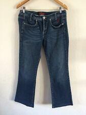 "Baby Phat Designer Jeans 32-34"" Waist Stretchy Mid Blue <R5952"