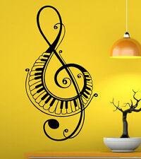 Music Wall Decal Vinyl Sticker Music Notes Treble Clef Interior Art Decor (44mu)