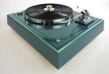 Restaurierter Thorens TD166 MKII Plattenspieler & SME 3009 flight green metallic