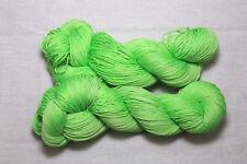 Merino / Seide, 4- fach,handgefärbt, Frühlingsgrün, MS 7