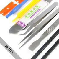10 in 1 Smart Phone Repair Metal Pry Opening Tool Kit Plastic Spudger for iPhone