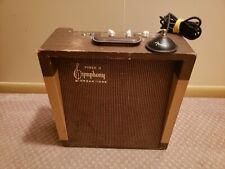 Custom Harmonica Tube Amp in Symphony Organ Tone Power 10 Cabinet Ship WorldWide