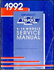 1992 Chevrolet S 10 Pickup and S10 Blazer Shop Manual OEM Repair Service Book
