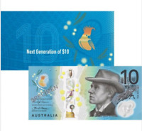 Official RBA Folder $10 Next Generation Banknote AA First Prefix