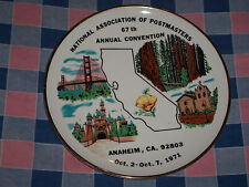 Viletta's Arts Plate National Association of Postmasters 67th convention 1971