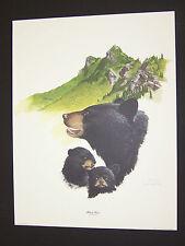 "Ray Harm Hand Signed Print ""Black Bear"" w/Original Envelope"