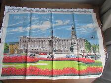 New listing Vintage Irish Linen New unused Souvenir Towel London Buckingham Palace Lot Flag