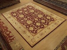 8 x 10 Hand Knotted Fine Quality Veggie Dye Hand Spun Wool Afghan Sultanabad Rug