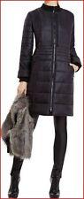 BCBG MAXAZRIA NOEL BLACK QUILT FAUX-FUR VEST COAT size M NWT $498-RackE/16