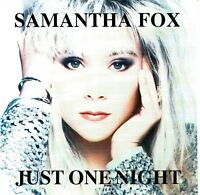 (CD) Samantha Fox - Just One Night - Another Woman (Too Many People), u.a.