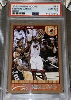 POP 1 of 12🔥2013 LeBron James PANINI NBA HOOPS GOLD #62 PSA 10 BGS lakers prizm