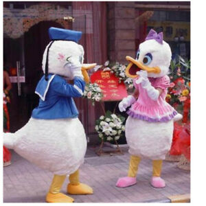 2019 New Halloween Donald And Daisy Duck Mascots Costume Adults Party Dress