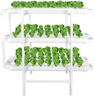 3 Layers 12 Pipes 108 Holes Hydroponic Grow Kit PVC Hydroponics Growing System picture
