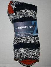 NWT Croft & Barrow Heavy Boot Socks 10-13 shoe 7-12 Cotton Blend