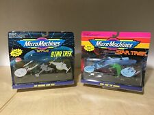 Star Trek Micro Machines Vehicle Lot Set Of 2 Vintage Galoob Toy 1990's