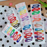 10Pcs/Set Baby Girls Kids Candy Color Hairpins Snap Hair Clip Barrettes BB Clips