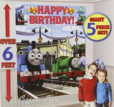 Thomas the Train Tank Engine Scene Setter Birthday Banner party Supplies Decor