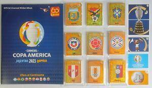Copa América 2021 Set Completo de Stickers + Album Vacio + Sobre Sellado
