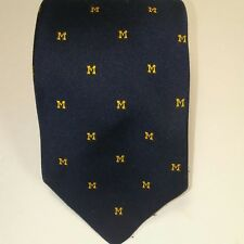 British Clubs Silk/Polyester University Of Michigan Neck Tie   60L x 3.25W  (T1)