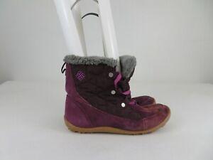 Columbia Powder Summit Shorty Winter Waterproof Boots Purple Womens Size 9