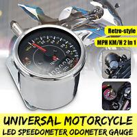Universale per moto moto KM/H MPH tachimetro contachilometri contagiri Gauge !