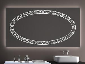 Badspiegel LD404 mit LED Beleuchtung Badezimmerspiegel Spiegel Wandspiegel Maß