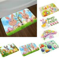 Happy Easter Egg Cute Cartoon Bunny Soft Carpet For Antislip Floor Mat Rug Decor