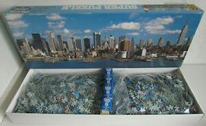 "FX SCHMID 7500 Pc Puzzle NYC Skyline RARE 100% Complete NEW 105"" x 37"" Open Box"