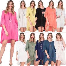 Viscose Summer Tunic Dresses for Women