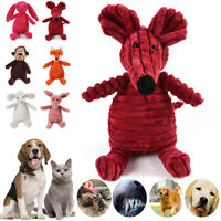 Cute Plush Dog Puppy Cat Play Pet Funny Chew Squeaker Toy Squeaky Sound Toys New
