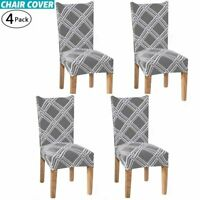 4Pcs Dining Chair Covers Stretch Dog Loves Superb Slipcover Seat Cover Elastane
