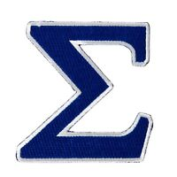 """Phi Beta Sigma Fraternity 5"""" Embroidered Appliqué Sigma Patch Sew or Iron On"""