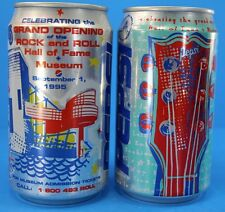 Vintage Alumunim 2 Pepsi Can 1995 Grand Opening Rock Roll Hall Of Fame Coin Bank