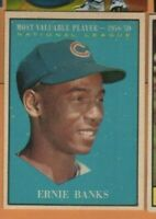1961 Topps Baseball - #485 Ernie Banks - Chicago Cubs - MVP - ex+ condition
