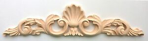 """20""""W x 4-1/4""""H, 24""""W x 4-3/4""""H, Hand Carved Red Oak, Wood Shell Applique Onlay"""