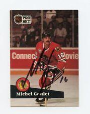 MICHEL GOULET BLACKHAWKS AUTOGRAPH AUTO 91-92 PRO SET #50 *56561