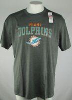 Miami Dolphins Mens NFL Team Apparel Charcoal Print Short Sleeve Tee