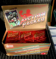 1990 Action Packed Football Rookie Update open box 35 packs Emmitt Smith Rookie