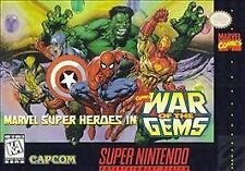 MARVEL SUPER HEROES WAR OF THE GEMS SNES SUPER NINTENDO GAME COSMETIC WEAR