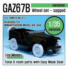 DEF.MODEL, WWII GAZ67B Russian Field Car Wheel set (for Tamiya), DW30006