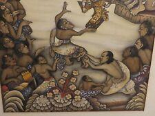 Peinture Originale, Aquarelle / papier. Bali, Indonésie, datée 58. Pakka Ubud ?
