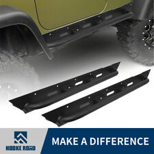 Hooke Road Steel Matte Side Step Durable Nerf Bar For 87-06 Jeep Wrangler TJ YJ