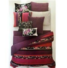Sky Velvet Stripe Full/Queen Duvet Comforter Cover Set Reversible 5 Piece Set