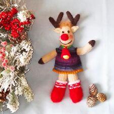 Knitted Waldorf Doll Reindeer - Brand New Custom Created
