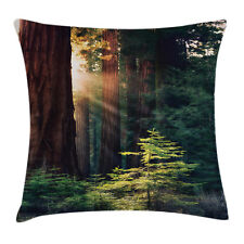 Nature Throw Pillow Case Nevada Morning Sun Square Cushion Cover 18 Inches
