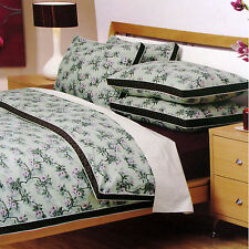 3 Pce Blossom Sage Green  Quilt Doona Duvet Cover Set KING by LOGAN & MASON
