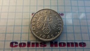 Coins Home circulated 1942 A III REICH GERMANY 50 pfennig Lot#NAZ53 Uncertified