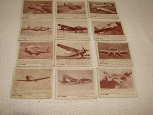 36 Zoom Bubble Gum WWII Aircraft  Cards- No 1 Series -1940-41 White Borders