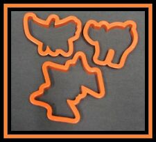 3 pc Halloween Cookie Cutters Set #1 EUC