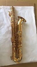 Professional Eb Baritone Saxophone Gold body Low A +case